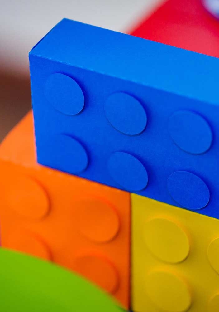Want giant Lego pieces? Just do it with paper or cardboard boxes