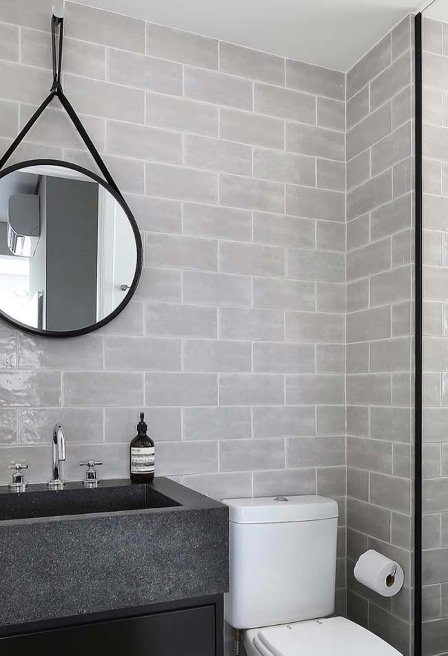 Black can always be used in decorating small decorated bathrooms