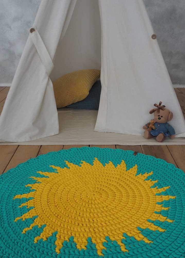 Um pequeno sol para irradiar conforto e aconchego para o quarto infantil