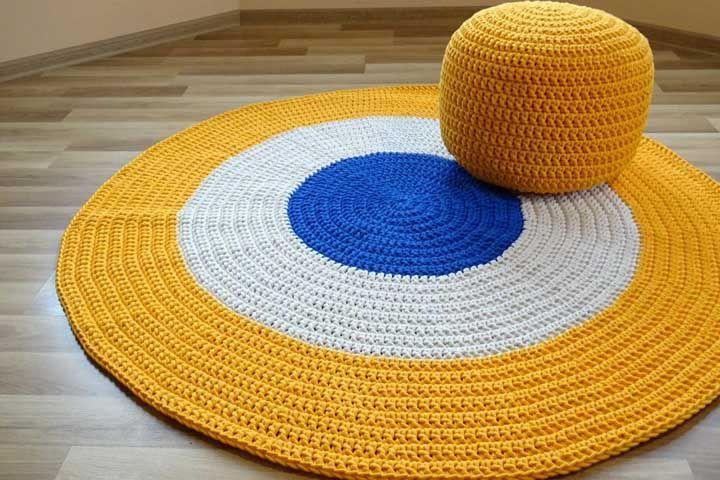 Conjunto inspirador feito em crochê