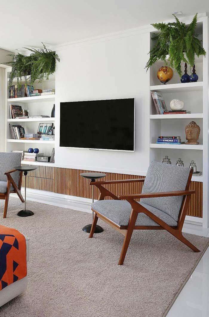 Toque de verde para sala de estar
