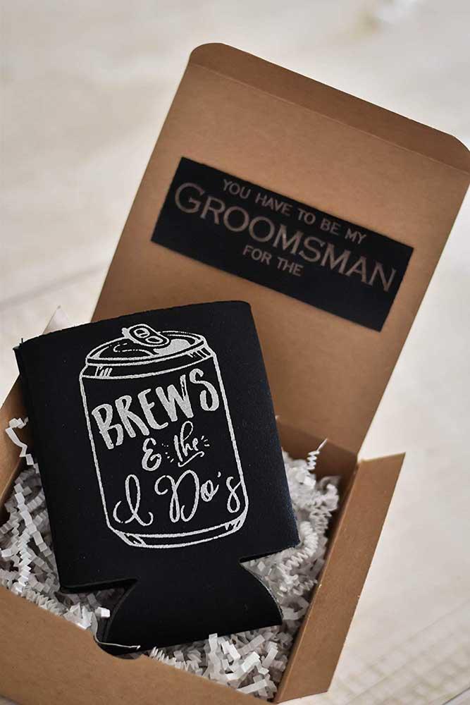 Simple wedding invitation made in cardboard box