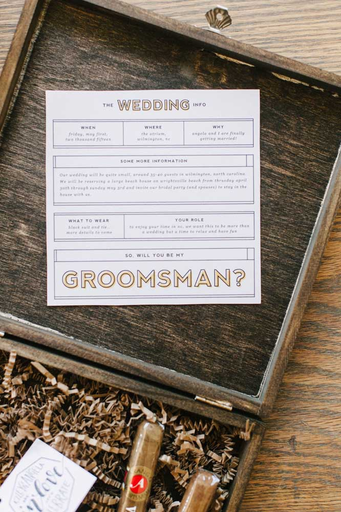 Detailed wedding invitation with all the information well explained
