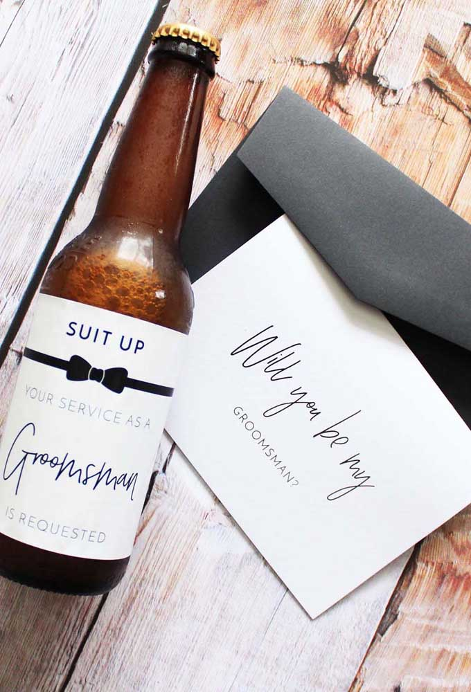 Personalization is the soul of the invitation for groomsmen