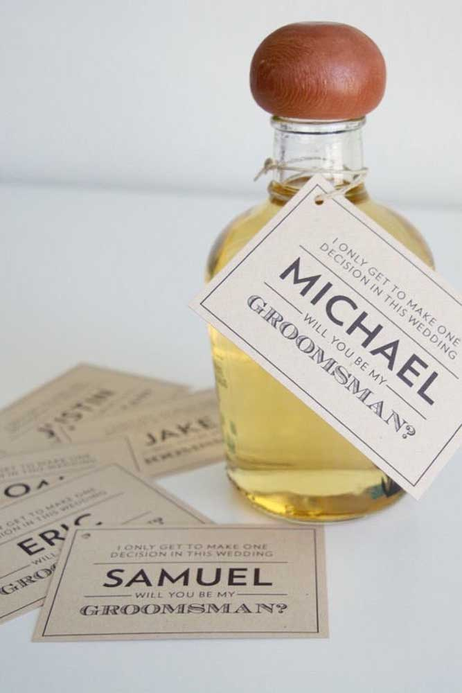 Personalized bottle and labels: that's all!