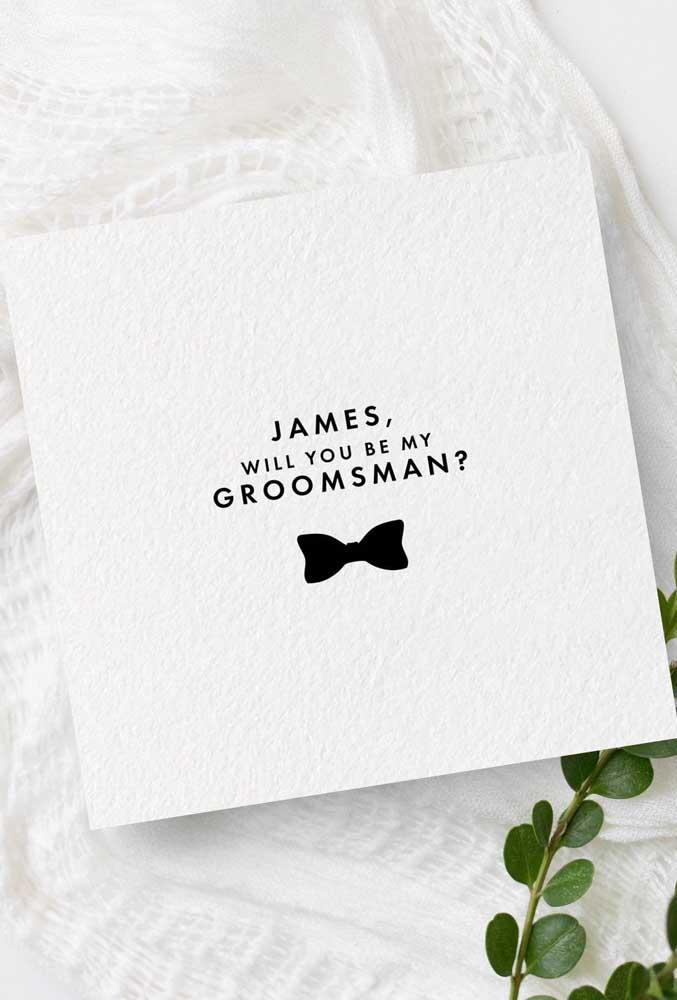 Simple, minimalist and modern godfather invitation