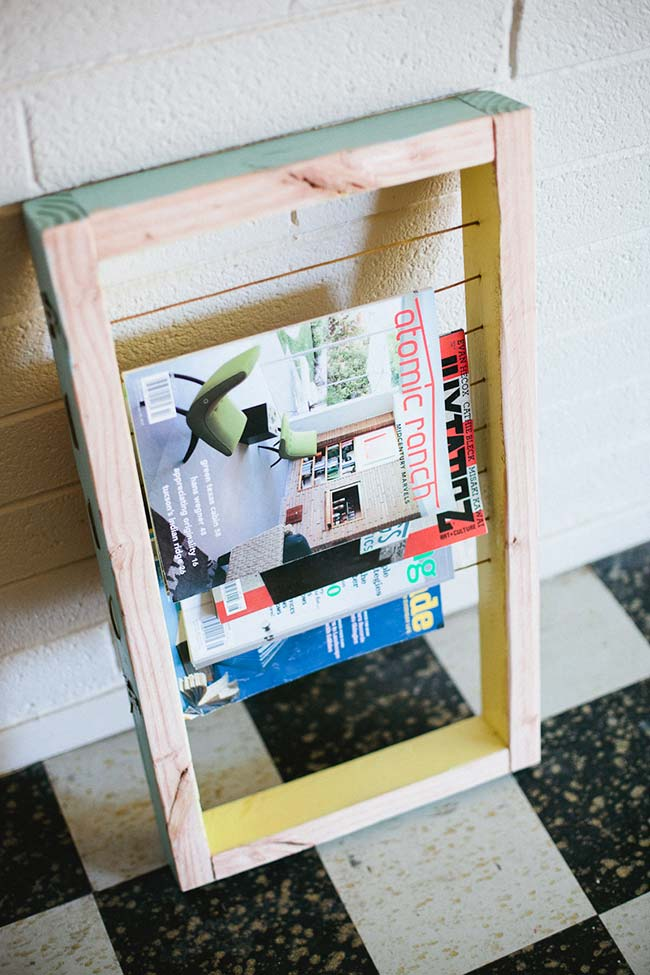 Simple do-it-yourself magazine rack