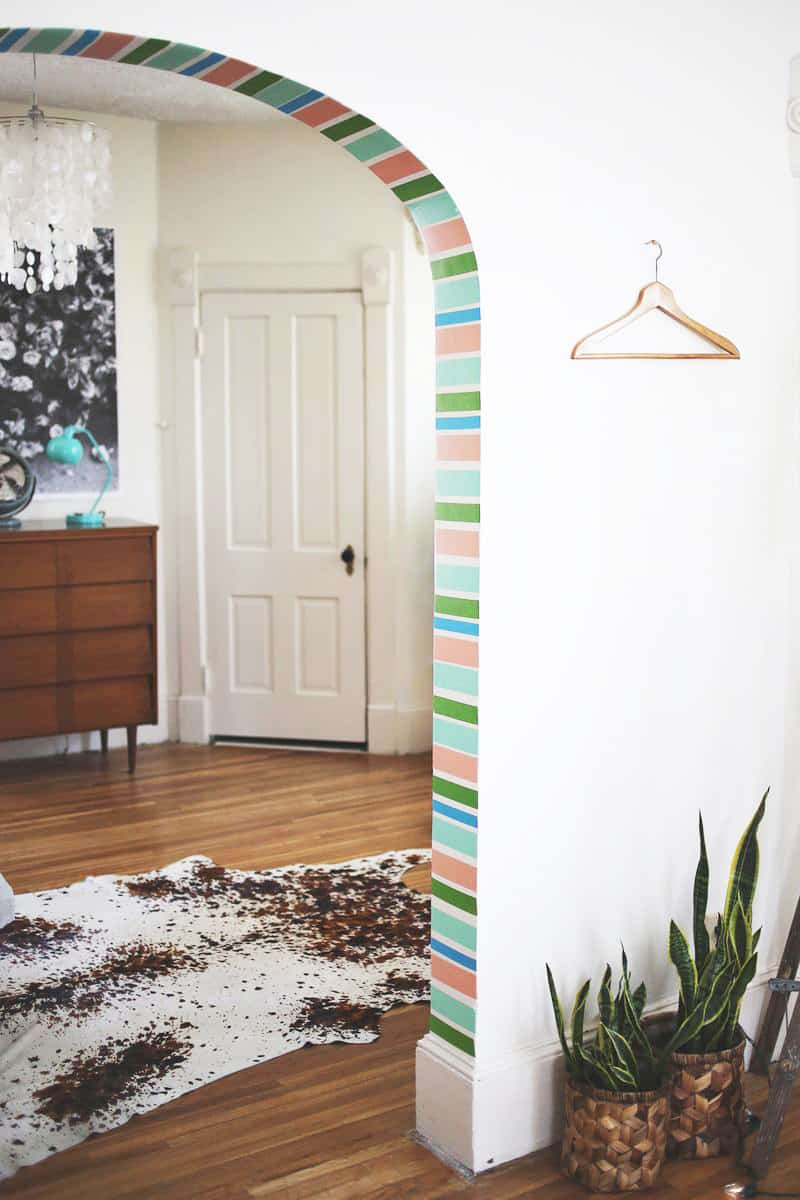 DIY decoration: colorful adhesive tapes