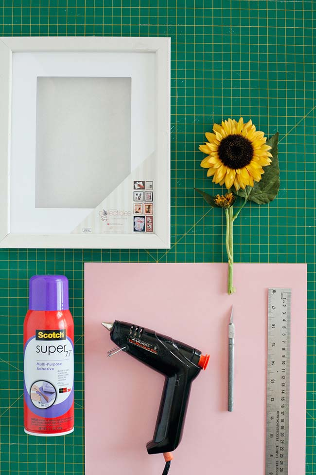 Floral frame for DIY decoration