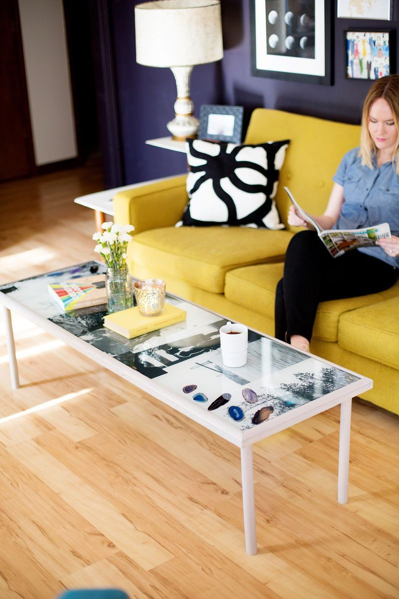 A beautiful and personalized coffee table for the living room