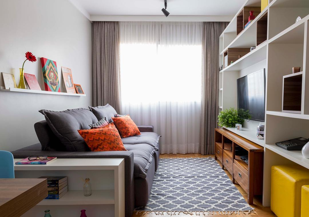 Small room decorated with bookcase
