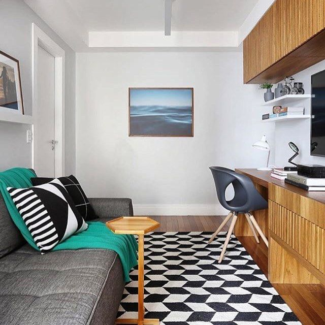 Choose modern decor for the small decorated room