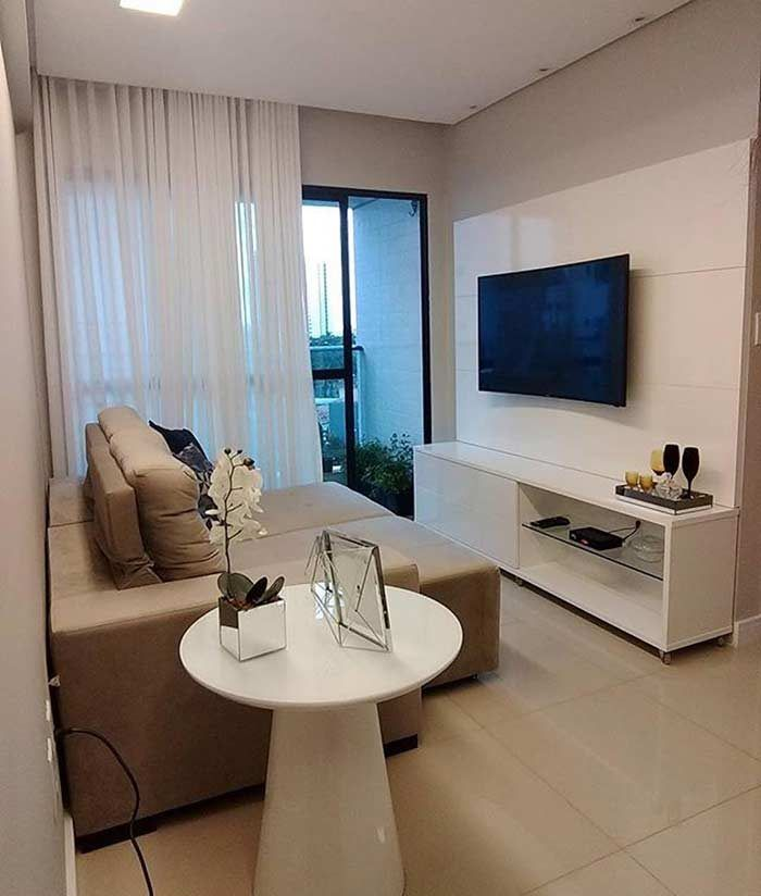 Room with neutral tones