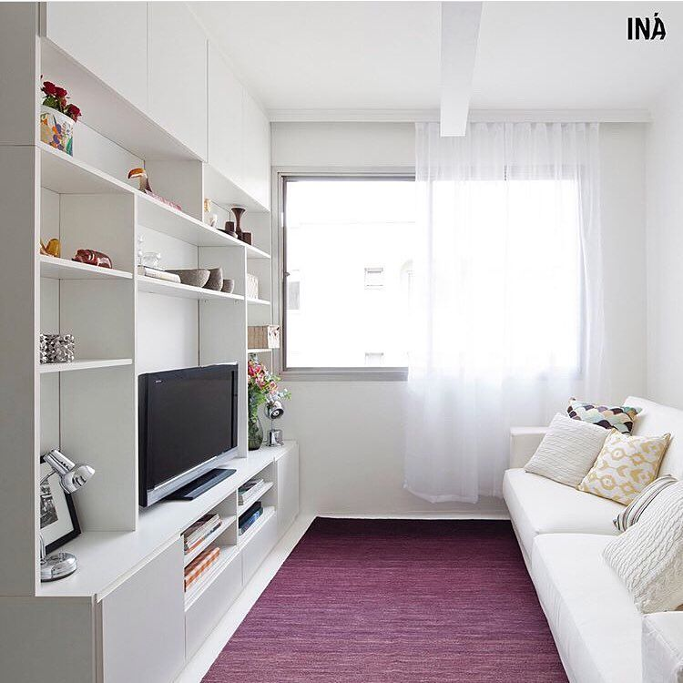 Living room with striking carpet