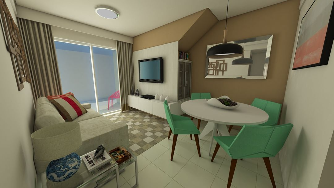 Simple decorated small room