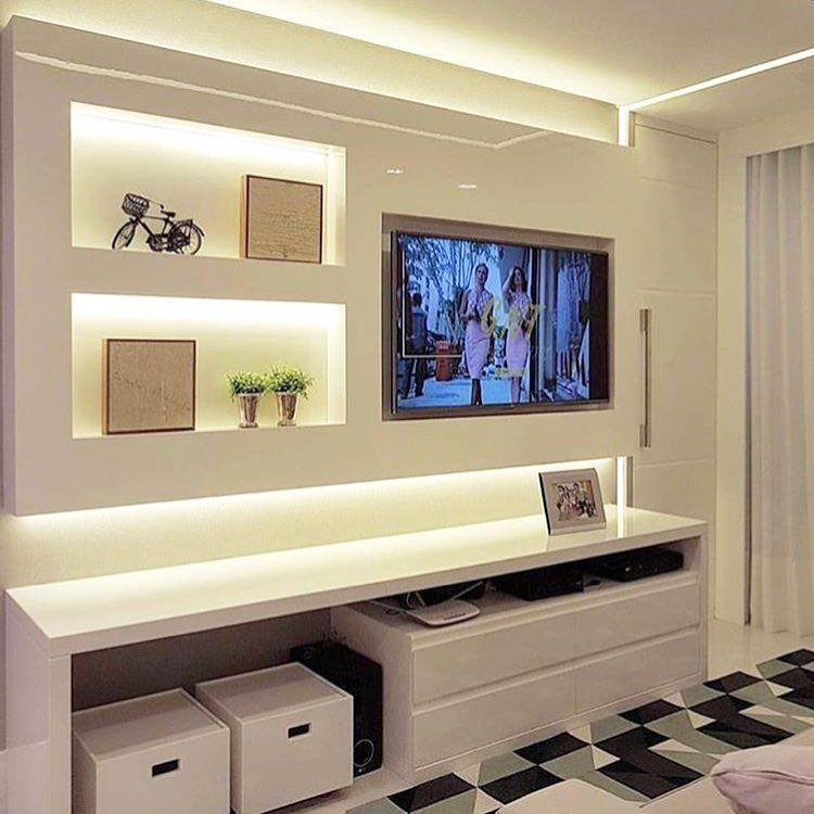 Small room decorated with custom furniture