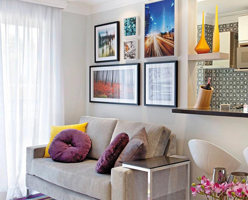 Decorative frames and pillows