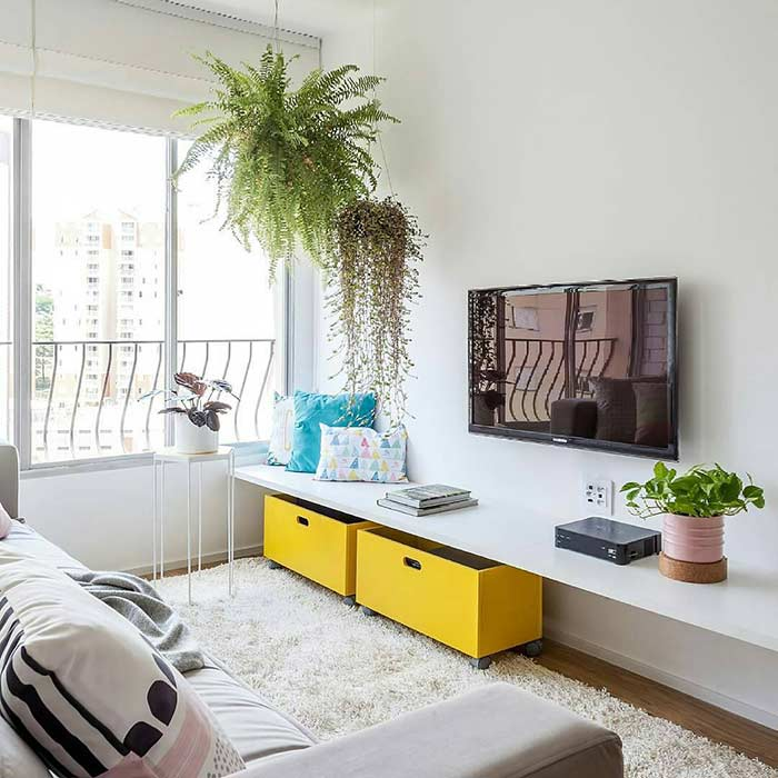 Plants are always a great option in decoration