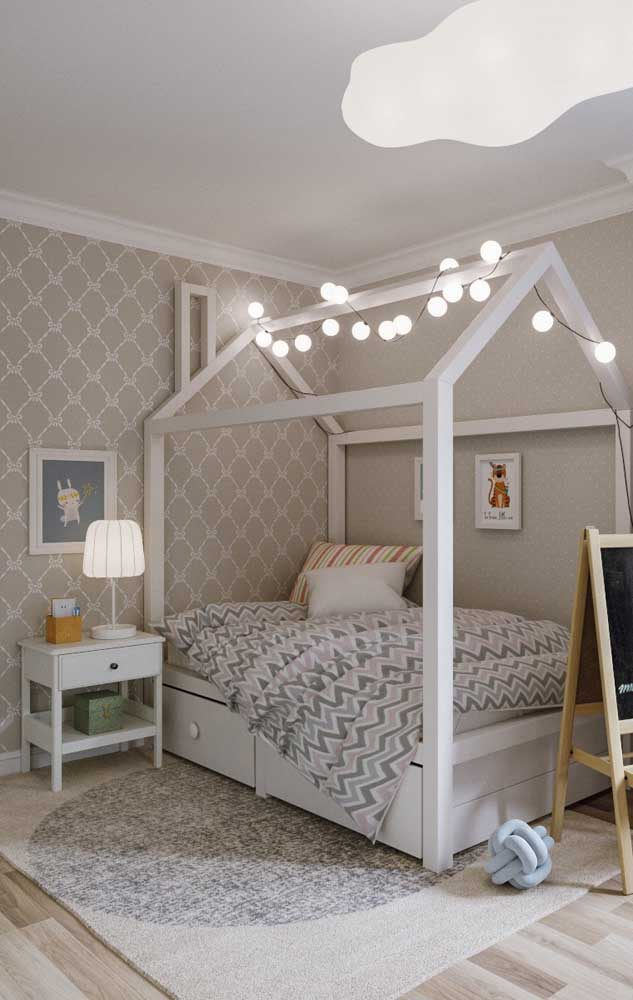 In the baby's room, the ivory color brings calm and tranquility
