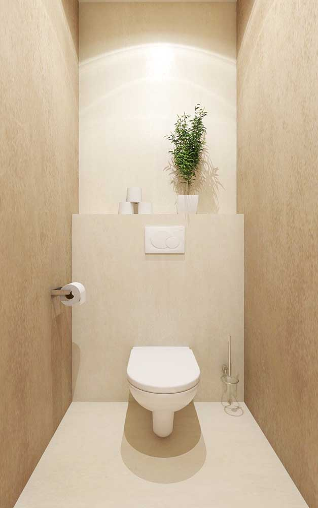 Delicate and cozy, this toilet has two shades of ivory, one lighter in the center and another darker on the sides; notice how diffused light enhances color