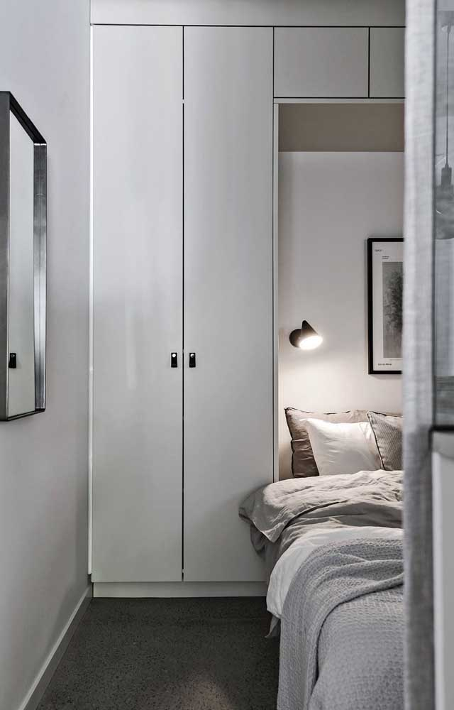 Built-in bed is still a good solution for small double rooms
