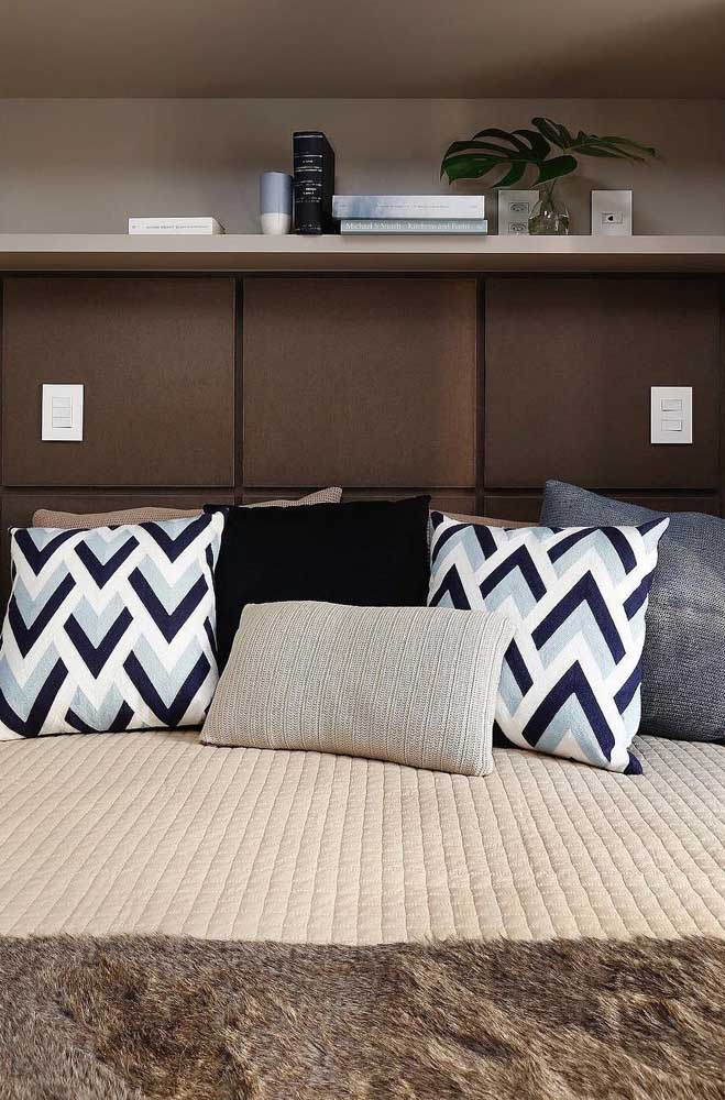 Pillows and a beautiful and comfortable bedding to make the small double room even more beautiful