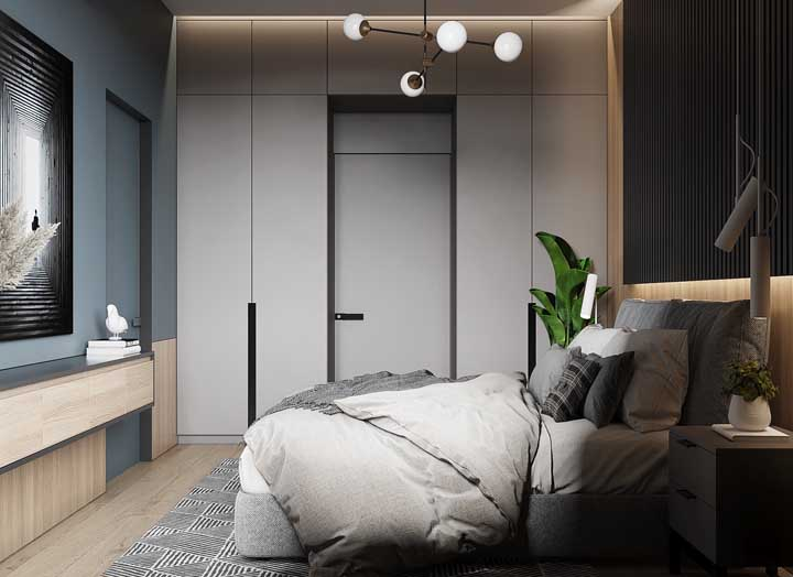 Indirect lighting is the highlight of this small double bedroom project