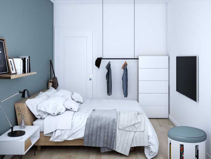 Practicality, comfort and functionality: three elements that cannot be missing in a small double room