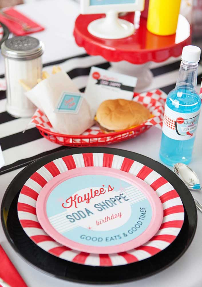 Dishes and cutlery with the face of fast food chains