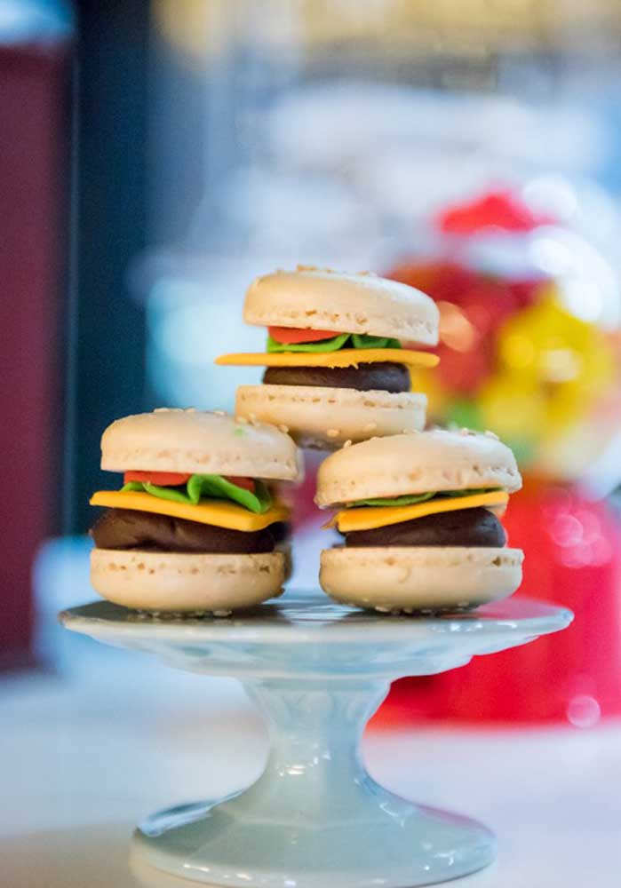 Decorative but super realistic hamburgers!