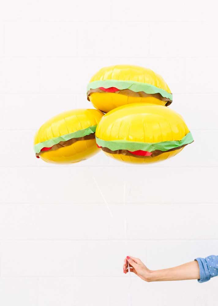 How about decorating the hamburger night with themed balloons?