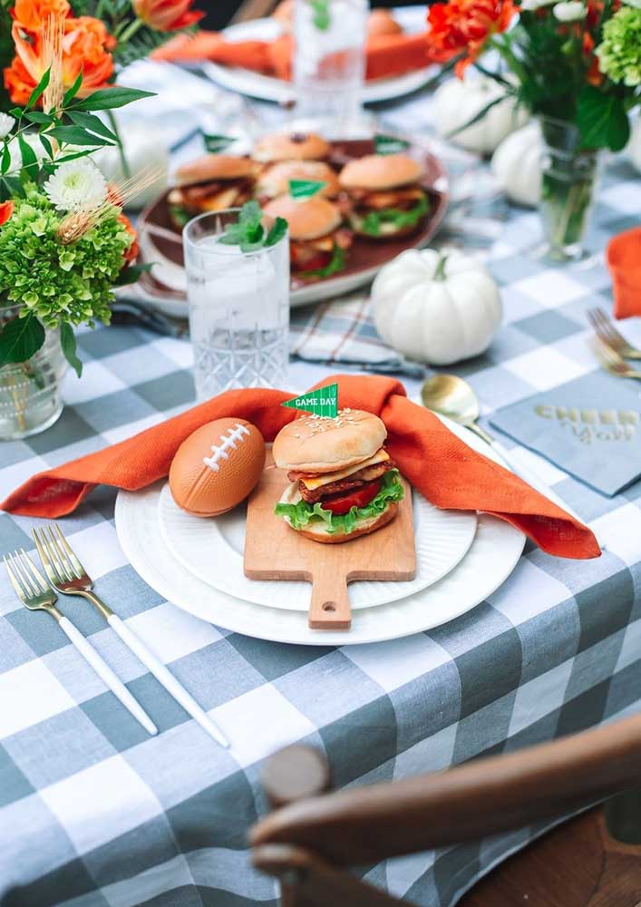 How about combining hamburger with American football?