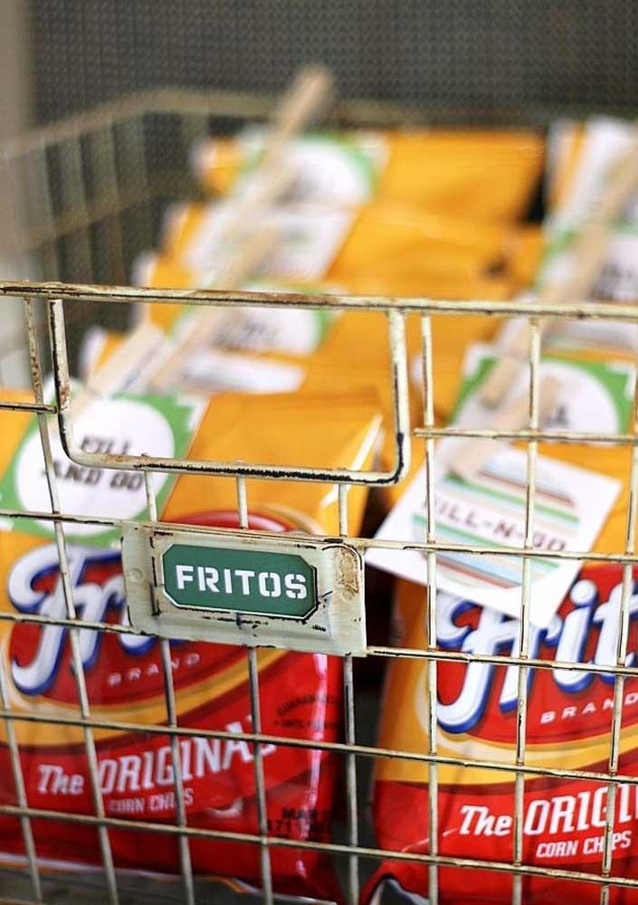 Potato chips as an appetizer