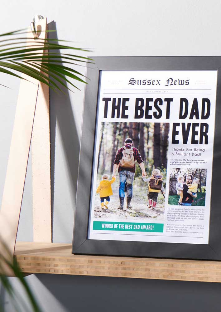 Daddy newspaper cover! Look what a creative gift for your father