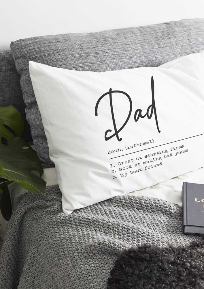 Have you ever thought about giving your father a personalized cushion cover? He will like it!