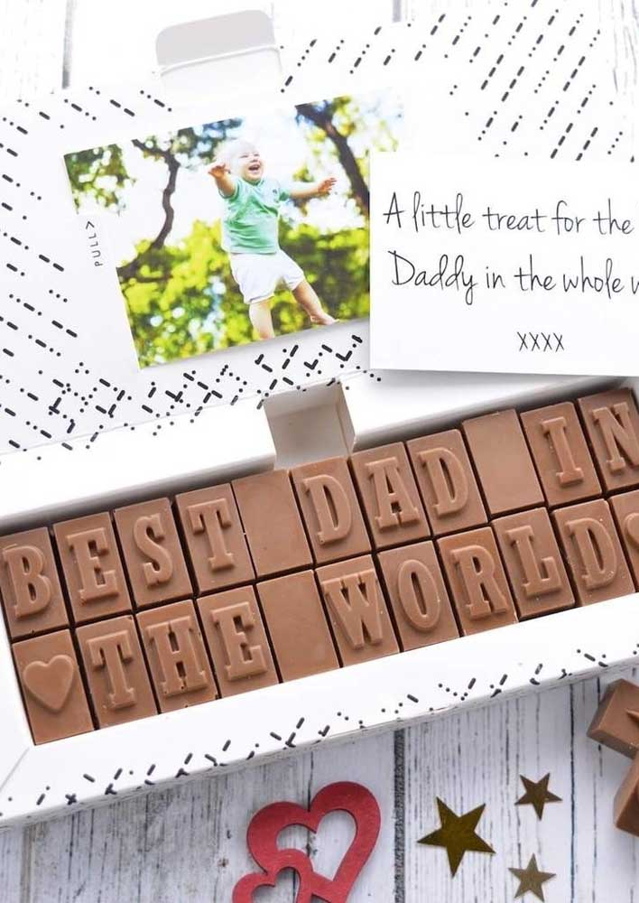 Who can resist chocolate? Even more this personalized for your father