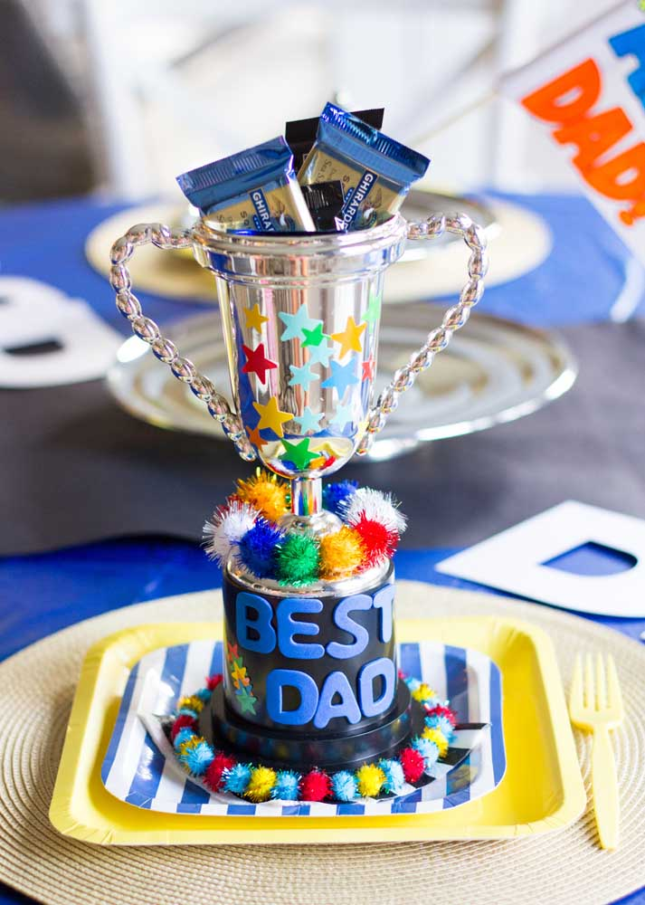 And along with the party comes the trophy for the best dad in the world