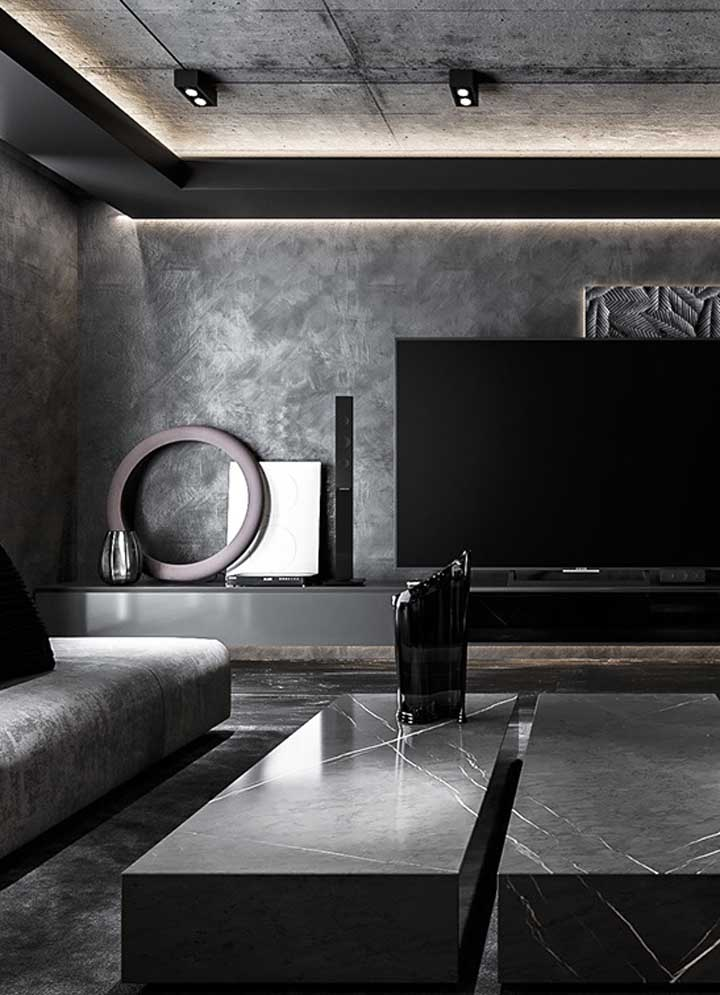 The elegance and modernity of black and gray