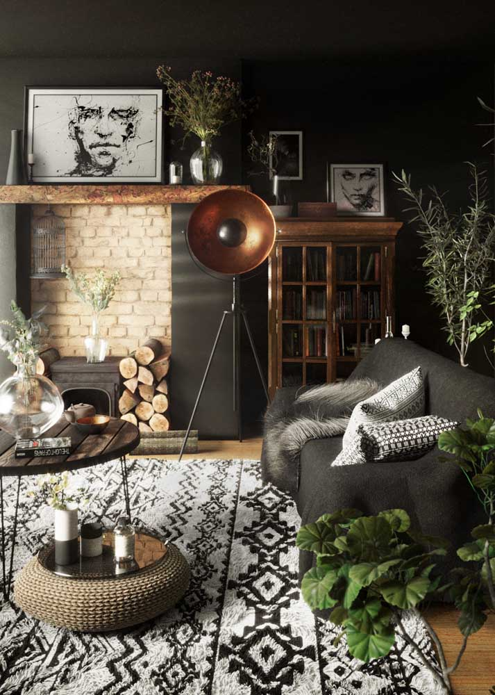 A cozy black room to prove that color is not that formal