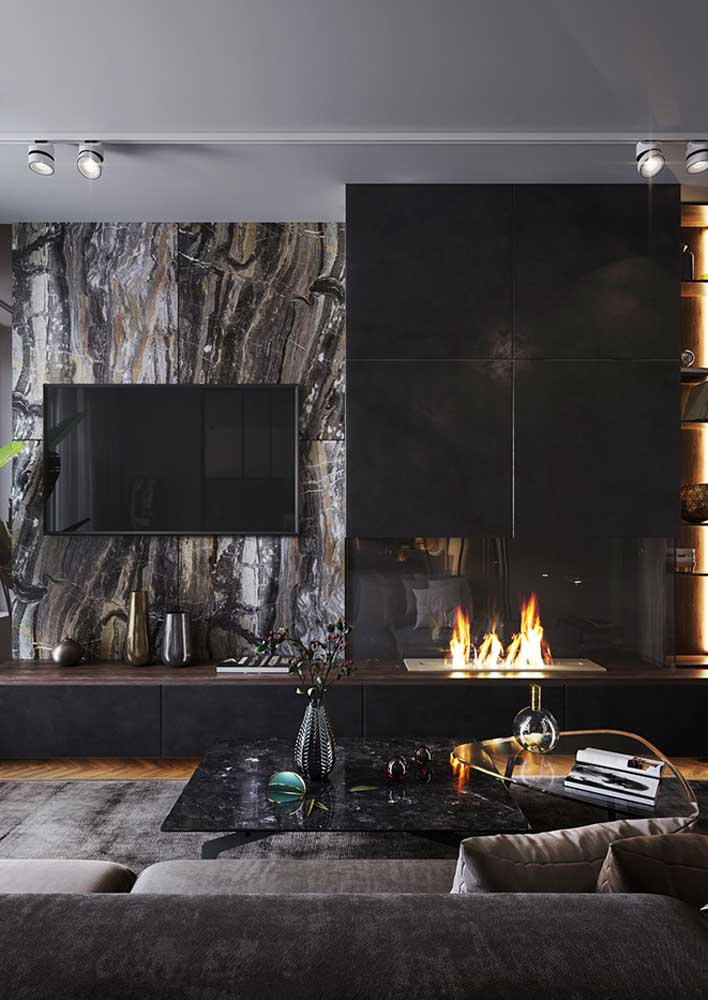 A luxury this marble panel with black and brown veins