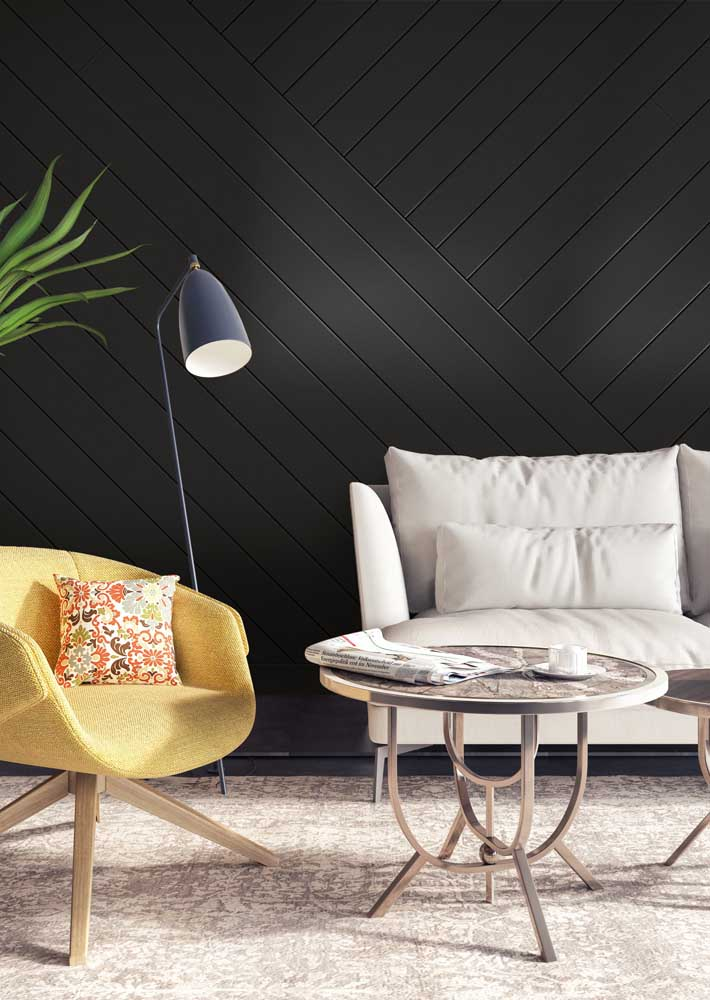 What do you think of a slatted black wood panel?
