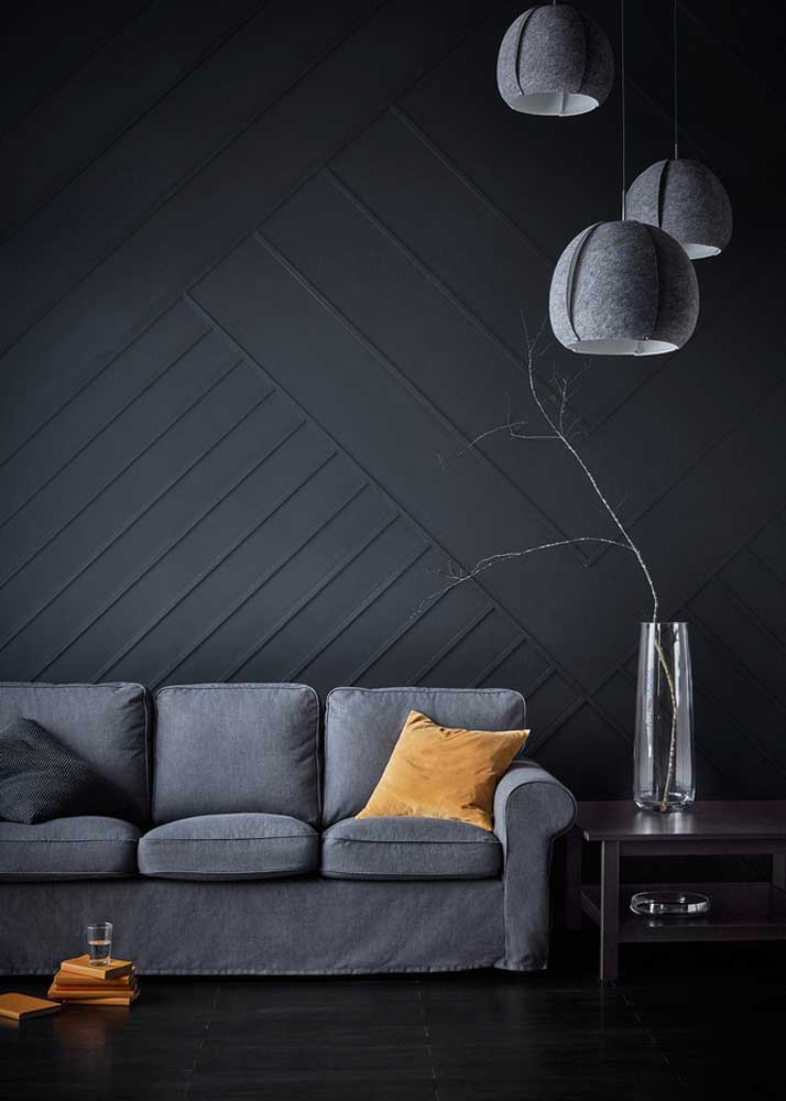Black and gray room: modern, minimalist and cozy