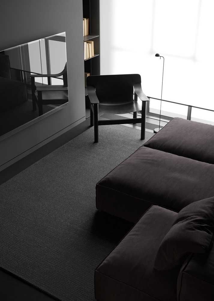Use black to accentuate the modern design of the room