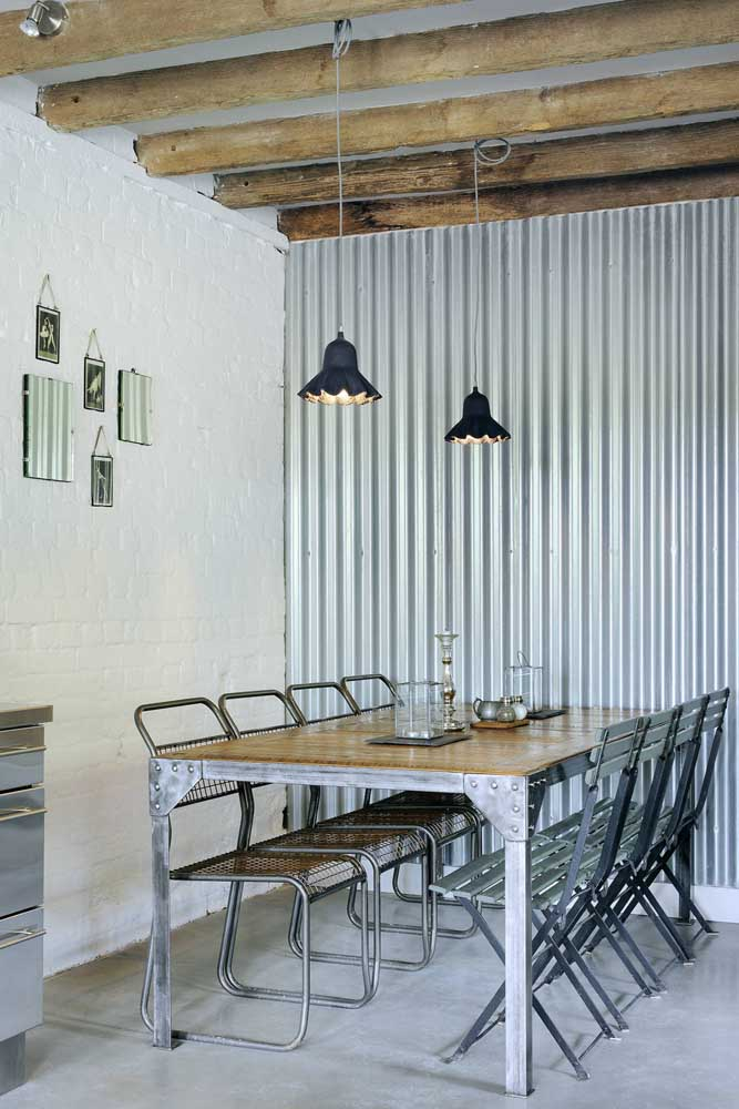 Industrial style and sandwich tile: a combination that works very well