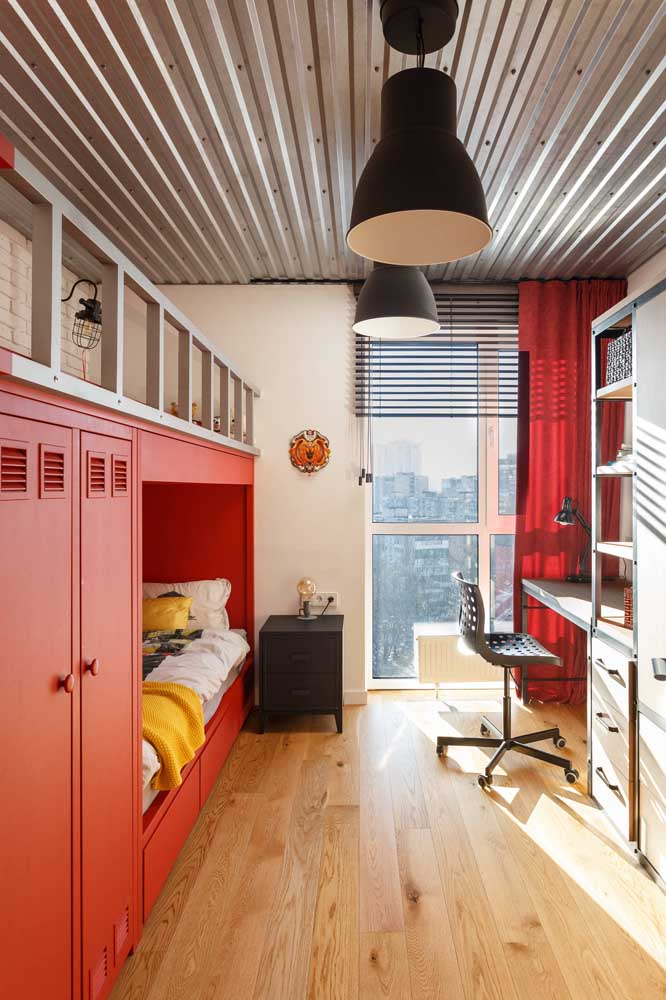 Do you want a very modern single room? So bet on the use of sandwich tiles in the decoration