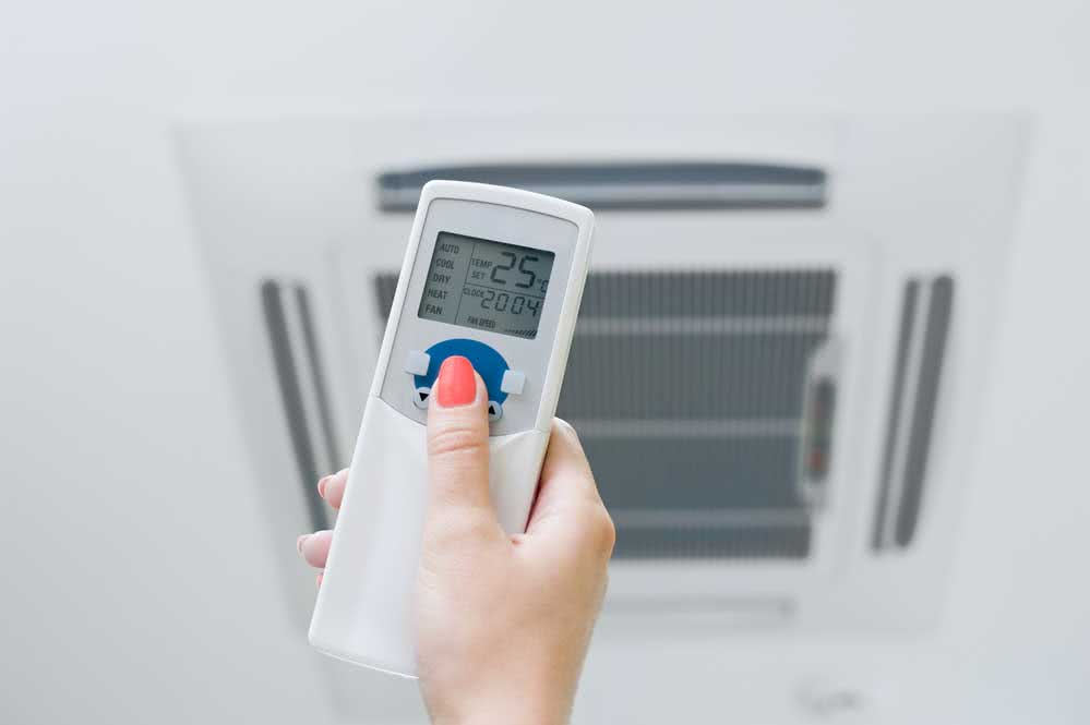 10. Turn off the air conditioner