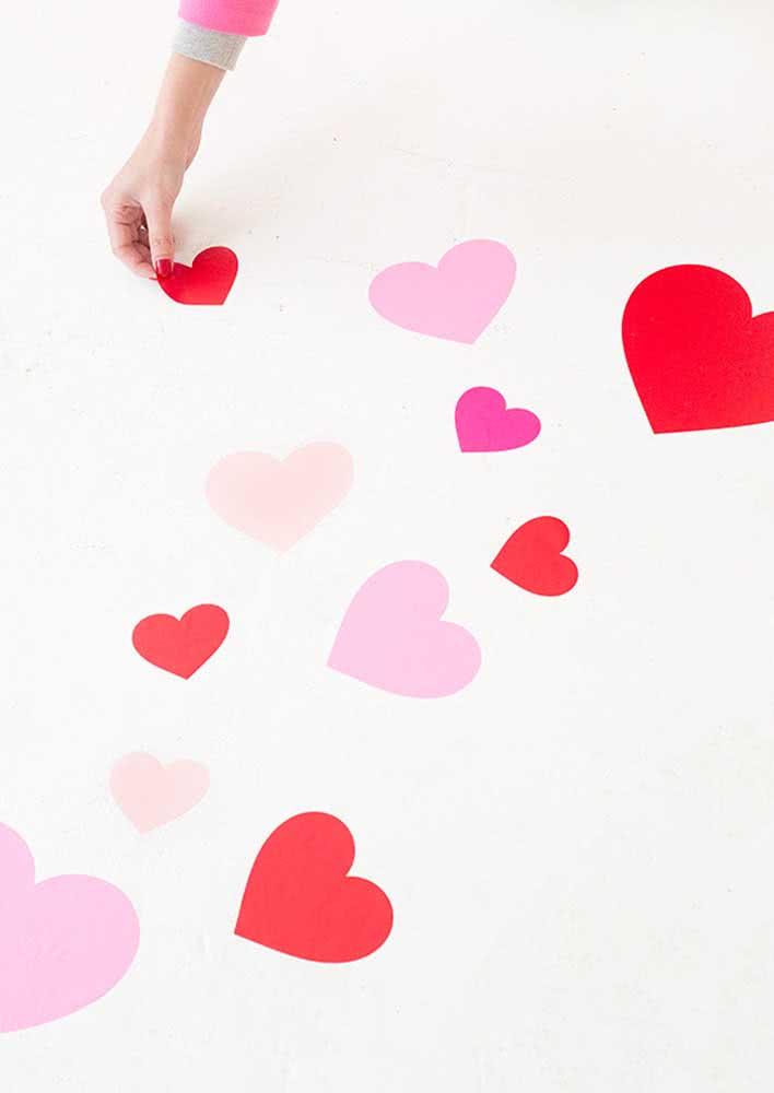 Noite romântica tem que ter corações!
