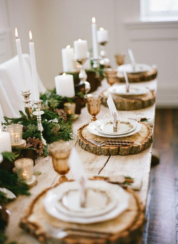 Mesa com estilo rústico