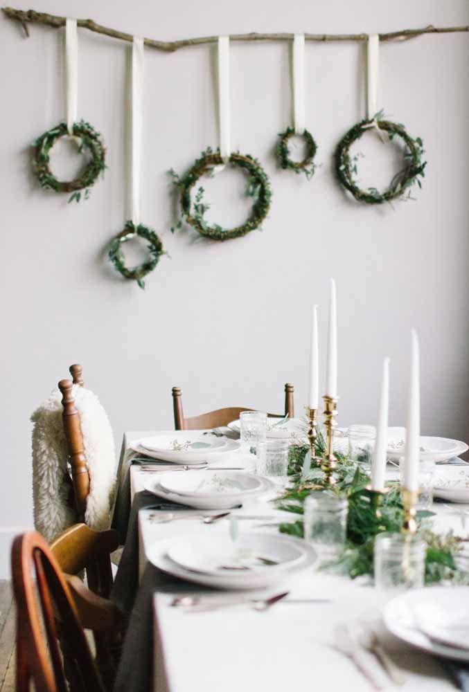 Uma decoração sutil, sem perder a elegância para receber os convidados