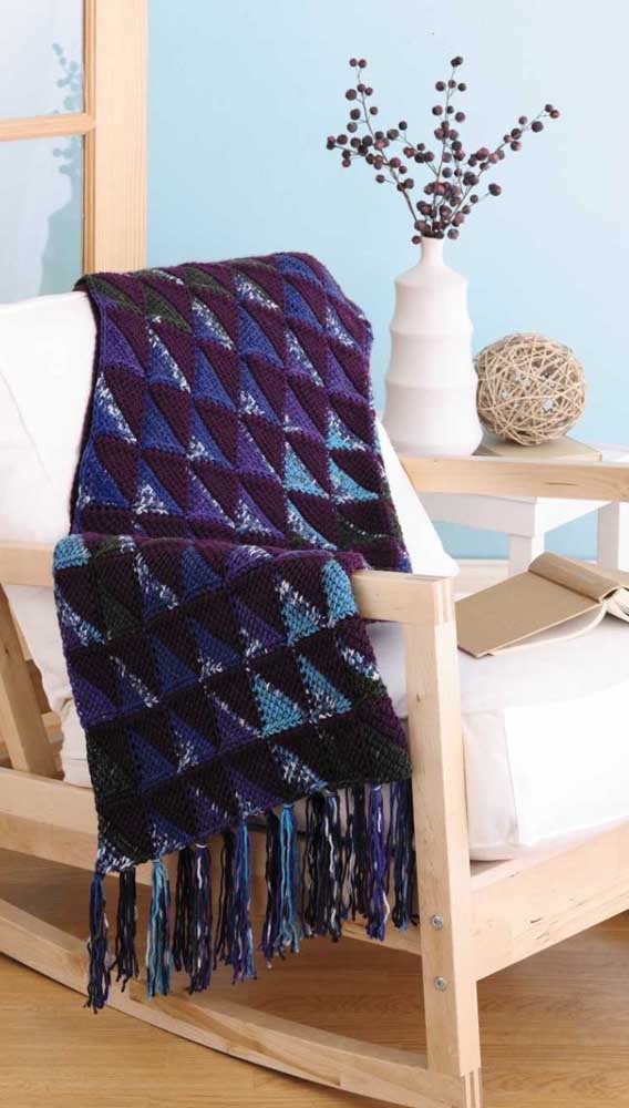 As franjas garantem um estilo despojado para as mantas de crochê